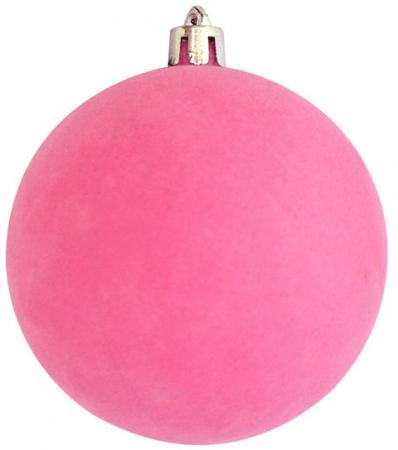 Набор шаров Winter Wings Флокир, в связке 8 см 2 шт розовый пластик N181152 искусственные растения valiant муляж лук с перцем в связке желтый 60см шт