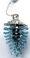 Елочные украшения Winter Wings Шишка 9х5 см 1 шт голубой пластик N181659 цены онлайн