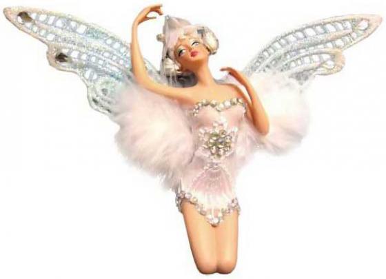 Подвеска Winter Wings Эльф в белой одежде 11 см 1 шт N06595
