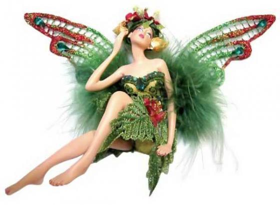 Подвеска Winter Wings Эльф в зеленой одежде 11 см 1 шт N06592