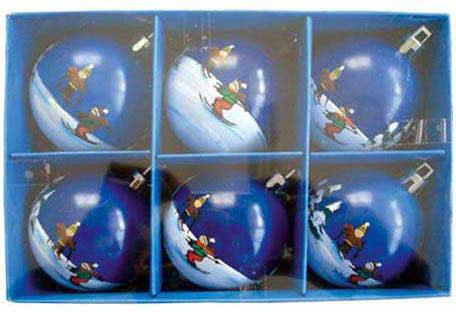 Набор шаров Winter Wings Лыжник, с ручной росписью 6 см 6 шт в ассортименте N06444 автомобильные ароматизаторы cristalinas cristalinas ароматизатор автомобильный с ароматом новогодней ели 3 шт по 6 мл