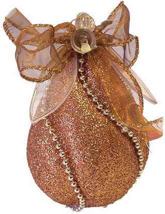 Набор шаров Winter Wings витой с декоративным украшением 7 см 3 шт золотой N06430