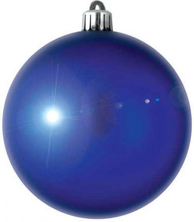 Елочные украшения Winter Wings Шар блестящий 8 см 1 шт синий N06690