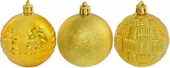 Елочные украшения Winter Wings Шар, блестящий с тиснением 6 см 1 шт золотой N181789G в ассортименте автомобильные ароматизаторы cristalinas cristalinas ароматизатор автомобильный с ароматом новогодней ели 3 шт по 6 мл