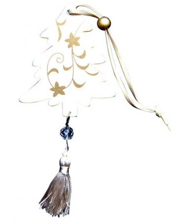 Подвеска Winter Wings N181330 16 см 1 шт белый дерево подвеска silver wings цвет белый