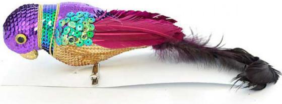 Елочные украшения Winter Wings Попугай 25 см 1 шт пластик, ПВХ winter wings украшение елочное елка