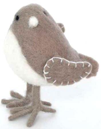 Елочные украшения Winter Wings Птичка фетро 8,5 х 6 см 1 шт коричневый полиэстер