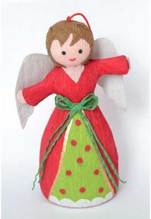 Елочные украшения Winter Wings Ангел 11 см 1 шт полимер, бумага N180178
