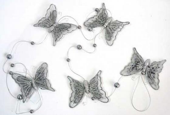 Гирлянда Winter Wings Бабочки 150 см 1 шт серебро полимер гирлянда winter wings льдинки 120 см 1 шт в ассортименте