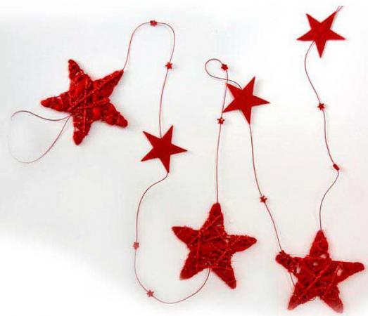 Елочные украшения Winter Wings Гирлянда шары 170 см 1 шт красный полимер