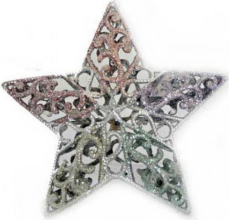 Елочные украшения Winter Wings Звезда ажурная 12 см 1 шт в ассортименте