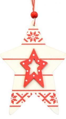 Елочные украшения Winter Wings Звезда энерджи 10 см 1 шт дерево N181034