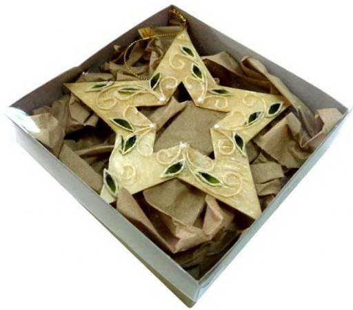 Елочные украшения Winter Wings Звезда 14*12,5 см 1 шт золотой перламутр, металл