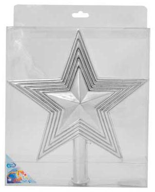 Наконечник Winter Wings Звезда с блестящей крошкой 25 см 1 шт в ассортименте пластик N069438