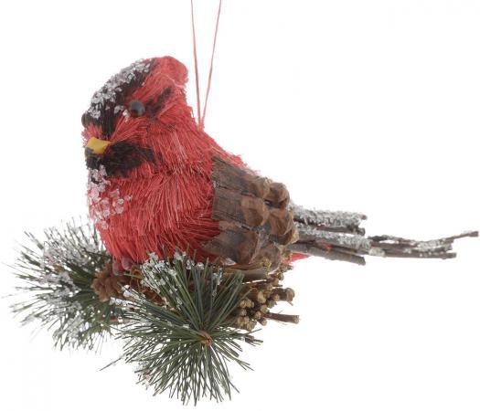 Украшение Winter Wings Птичка лесная сказка 14х10 см 1 шт красный полимер N180342 цены онлайн