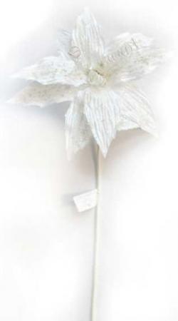 Украшение Winter Wings Цветок льдинка 70 см 1 шт белый полимер N069862