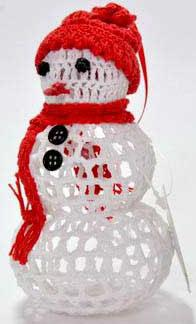 Украшение Winter Wings Снеговик вязаный 7х13 см 1 шт белый хлопок N180242/БЕЛ цена и фото