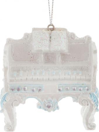 Украшение Winter Wings Клавесин 8 см 1 шт белый полирезин N180436 цены онлайн