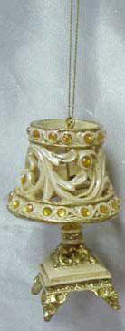 Украшение Winter Wings Лампа настольная 9 см 1 шт шампань полирезин N180447