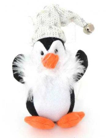 Украшение Winter Wings Пингвинчик 12 см 1 шт черный полиэстер 180850 набор новогодних подвесных украшений winter wings новогодние герои диаметр 5 см 8 шт