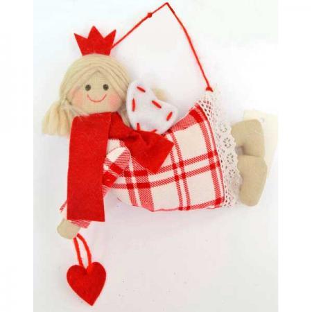Украшение Winter Wings Принцесса 15*17 см 1 шт красный полиэстер набор новогодних подвесных украшений winter wings колокольчики цвет красный 2 шт