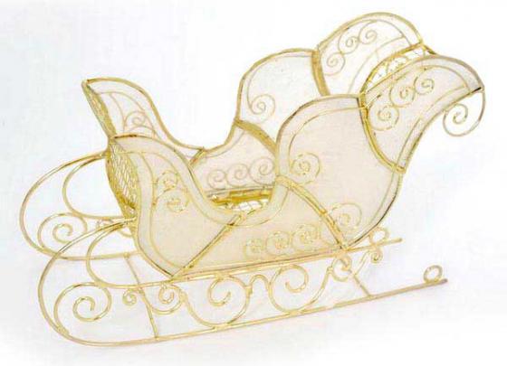 Украшение Winter Wings Сани 18*11 см 1 шт перламутровый металл N180757 набор новогодних подвесных украшений winter wings новогодние герои диаметр 5 см 8 шт
