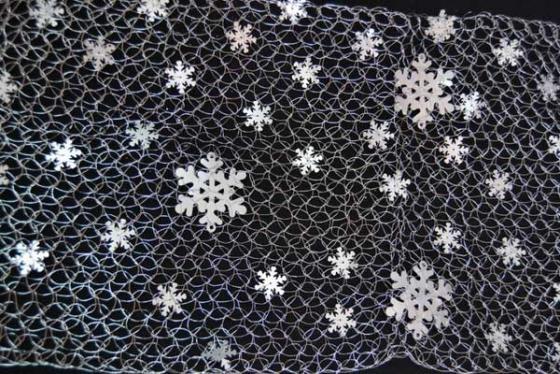Украшение Winter Wings Сетка 160*30 см 1 шт белый металл набор новогодних подвесных украшений winter wings новогодние герои диаметр 5 см 8 шт