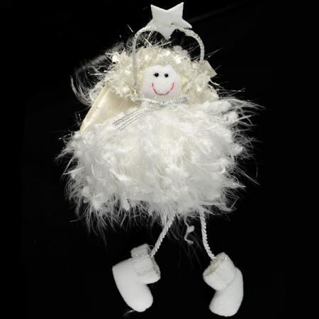 Украшение Winter Wings Сидящий ангел 21 см 1 шт белый полиэстер N180204 украшение winter wings сидящий ангел 21 см 1 шт белый полиэстер n180204