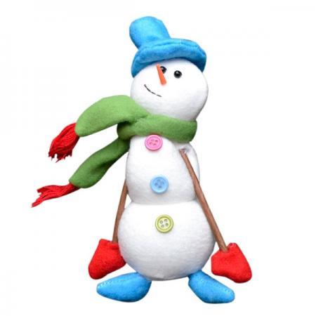 Украшение Winter Wings Снеговик 18 см 1 шт полиэстер набор новогодних подвесных украшений winter wings колокольчики цвет красный 2 шт