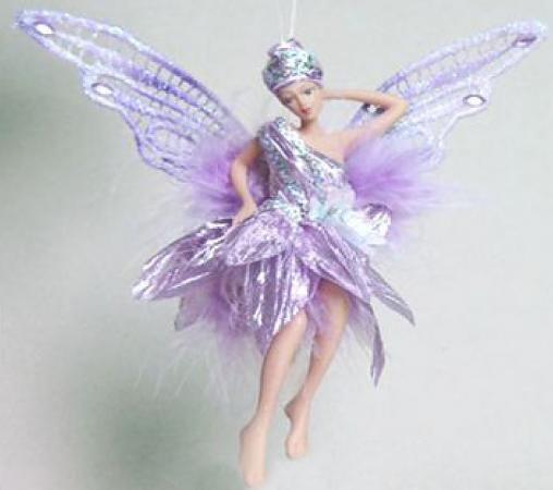 Украшение Winter Wings Фея в светло-фиолетовом платье 15 см 1 шт фиолетовый полирезин