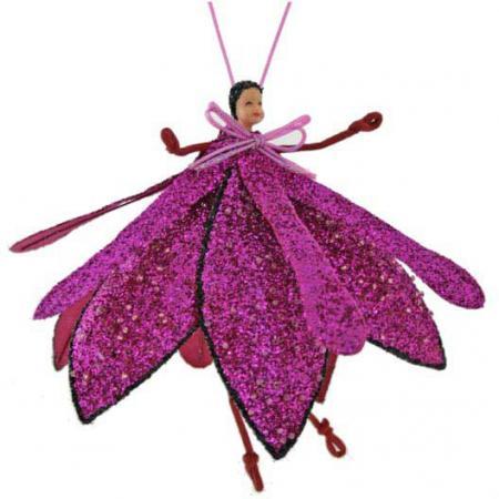 Елочные украшения Winter Wings Цветок-эльф 19 см 1 шт розовый
