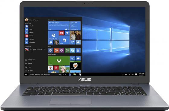 Ноутбук ASUS VivoBook 17 X705UV-BX111 17.3 1600x900 Intel Pentium-4405U 1 Tb 4Gb nVidia GeForce GT 920MX 2048 Мб серый Endless OS 90NB0EW2-M02450 ноутбук asus x751sj ty017t pentium n3700 1 6ghz 17 3 4gb 500gb dvdrw gt920m 1gb w10 black 90nb07s1 m00860