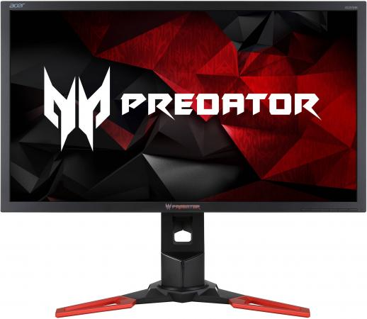 Монитор 28 Acer XB281HKbmiprz Predator черный TN 3840x2160 300 cd/m^2 1 ms HDMI DisplayPort USB UM.PX1EE.001 монитор lg 24ud58 b черный ips 3840x2160 250 cd m^2 5 ms g t g hdmi displayport