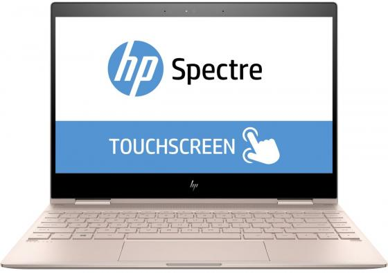 "Ноутбук HP Spectre x360 13-ae013ur 13.3"" 1920x1080 Intel Core i5-8250U 256 Gb 8Gb Intel UHD Graphics 620 розовый Windows 10 Home 2VZ73EA цена 2017"