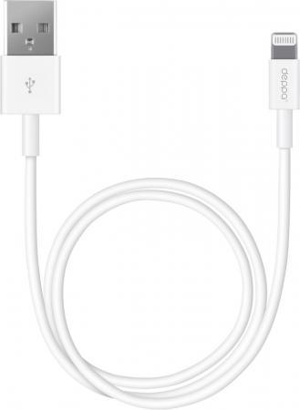 Кабель Lightning 3м Deppa круглый белый 72230 кабель lightning 1 2м deppa 72266 круглый