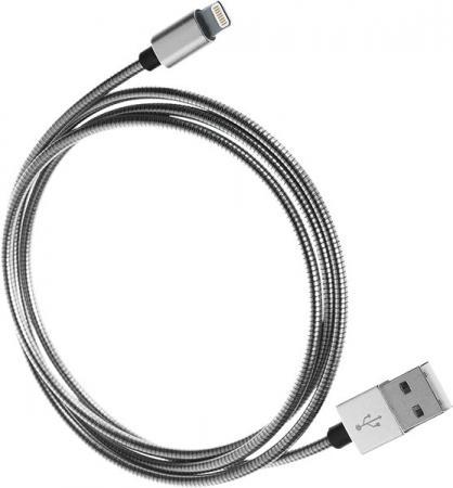 Кабель Lightning 1м QUMO MFI fullmetaL круглый 21715 qumo lightning usb mfi silver кабель 1 м