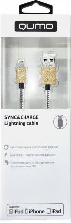 Кабель Lightning 1м QUMO MFI PVC+СoilL круглый 21713 qumo lightning usb mfi silver кабель 1 м