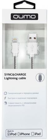 Кабель Lightning 1м QUMO AP100 круглый 21710 кабель lightning 1м wiiix круглый cb120 u8 10b