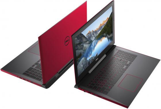 "Ноутбук DELL Inspiron 7577 15.6"" 1920x1080 Intel Core i7-7700HQ 1 Tb 128 Gb 16Gb nVidia GeForce GTX 1050Ti 4096 Мб красный Linux 7577-9621"