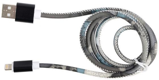 Кабель Lightning 1м Ritmix RCC-422 круглый коричневый кабель lightning 1м ritmix rcc 200 плоский синий