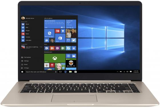 Ноутбук ASUS VivoBook S510UN-BQ019T 15.6 1920x1080 Intel Core i5-7200U 1 Tb 128 Gb 8Gb nVidia GeForce MX150 2048 Мб золотистый Windows 10 Home 90NB0GS1-M00420
