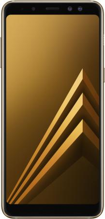 Смартфон Samsung Galaxy A8 (2018) золотистый 5.6 32 Гб NFC LTE Wi-Fi GPS SM-A530FZDDSER смартфон samsung galaxy a8 2018 blue sm a530f exynos 7885 2 2 4gb 32gb 5 6 2220x1080 16mp 16mp 8mp 4g lte 2sim android 7 1 sm a530fzddser