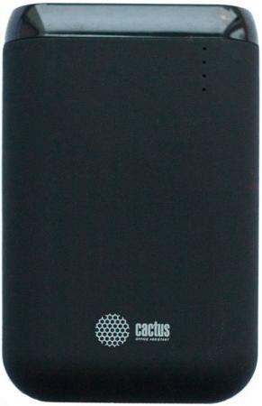 Внешний аккумулятор Power Bank 7800 мАч Cactus CS-PBHTST-7800 черный внешний аккумулятор molecula pb 20 01 20800 мач черный алюминий