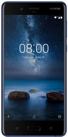 Смартфон NOKIA 8 синий 5.3 64 Гб NFC LTE Wi-Fi GPS 11NB1L01A16 drop 1 e72 nokia e72