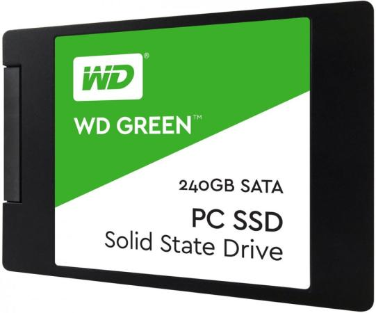 Твердотельный накопитель SSD 2.5 240Gb Western Digital Green Read 545Mb/s SATAIII WDS240G2G0A