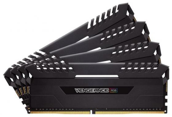 Оперативная память 64Gb (4x16Gb) PC4-21300 2666MHz DDR4 DIMM Corsair CMR64GX4M4A2666C16 оперативная память 8gb pc4 21300 2666mhz ddr4 dimm corsair cmv8gx4m1a2666c18