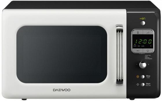 Микроволновая печь DAEWOO KOR-6LBRWB 800 Вт белый чёрный микроволновая печь bbk 23mws 927m w 900 вт белый