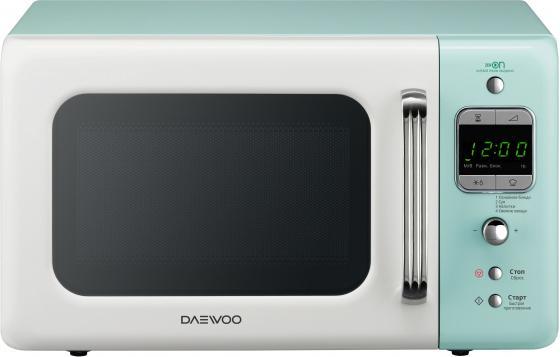 Микроволновая печь DAEWOO KOR-6LBRWM 800 Вт белый голубой микроволновая печь daewoo kor 6627w 700 вт белый
