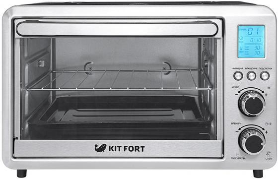 Мини-печь KITFORT KT-1705 серебристый