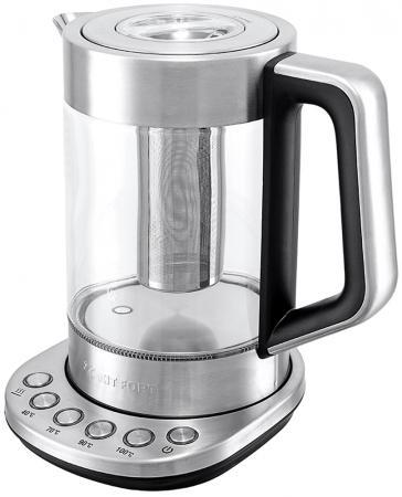 Чайник KITFORT КТ-622 2200 Вт прозрачный серебристый 1.7 л стекло чайник электрический kitfort кт 622